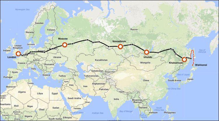 Rota ferroviária ligará Londres a Tóquio