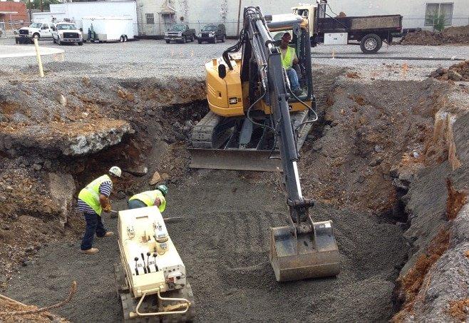 controle de qualidade: escavação de terreno