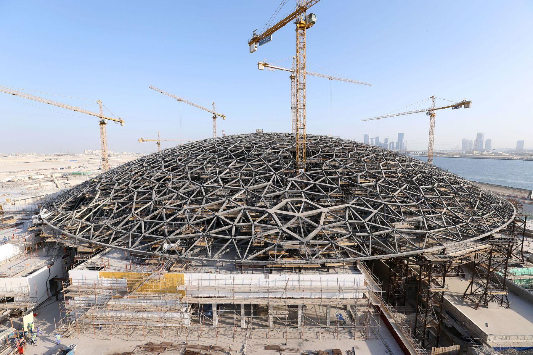 novidades na construção civil - louvre abu dhabi
