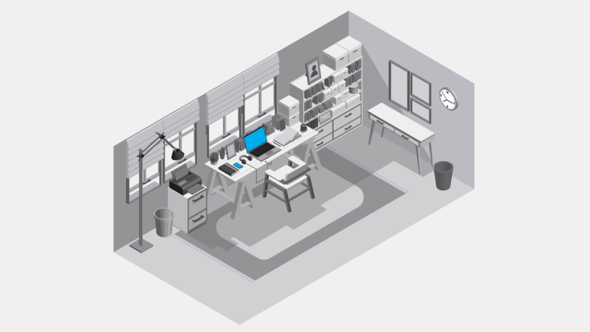 A Room turned into an office