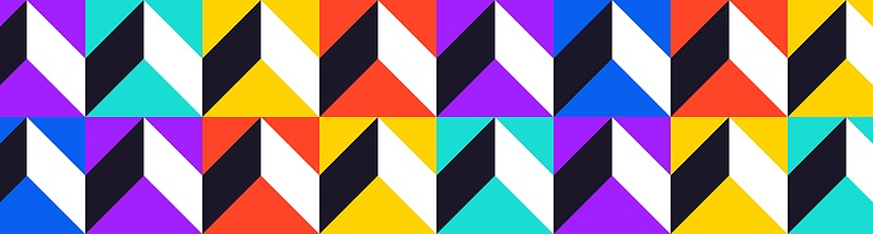 Colorful Triangles banner