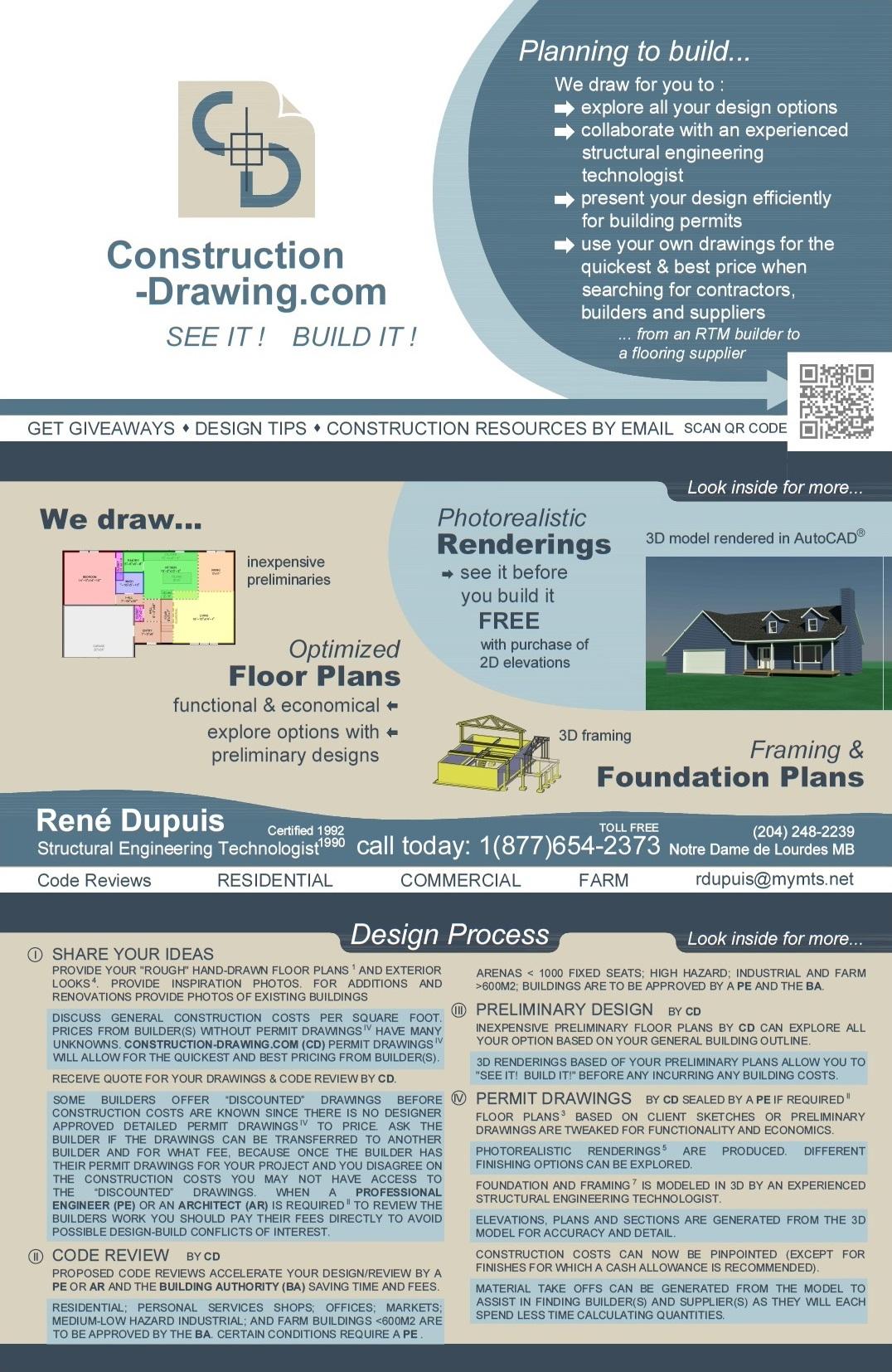 See it! Build it! • Drafting Service Manitoba (mb