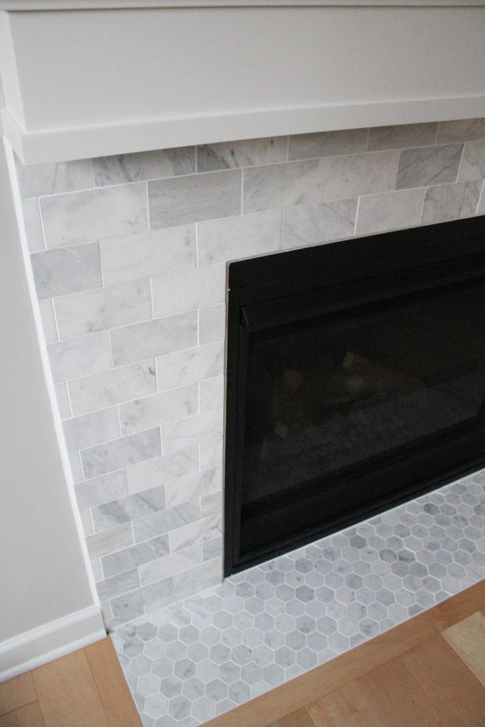 carrara marble fireplace example