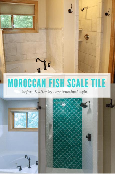 fish scale tile gorgeous 3 part
