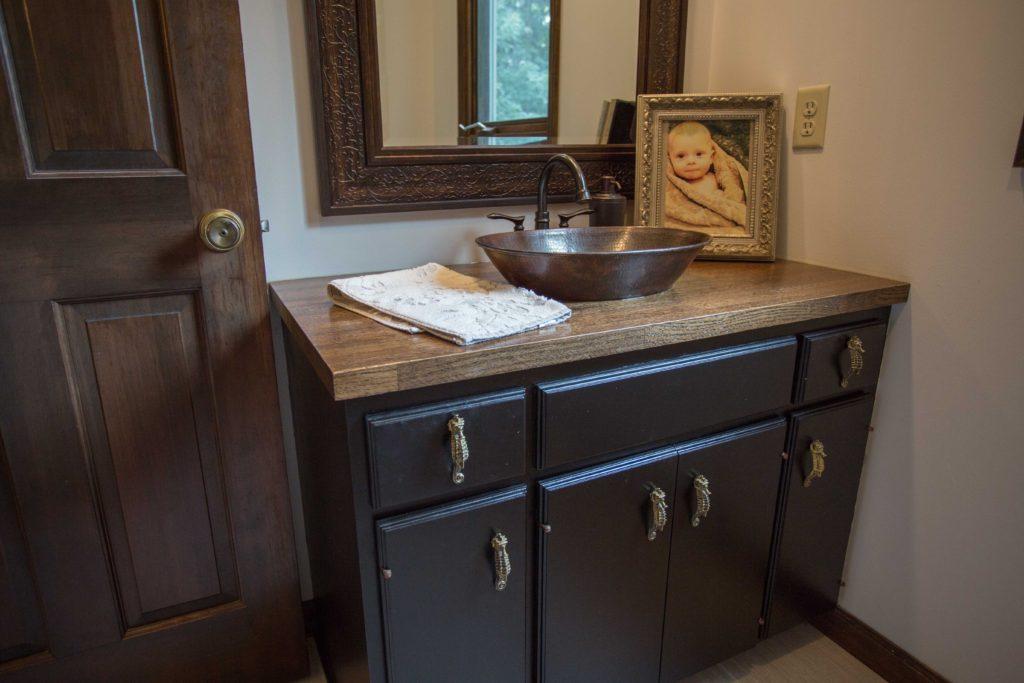 Butcher Block Bathroom Vanity Easy 6 Step Installation