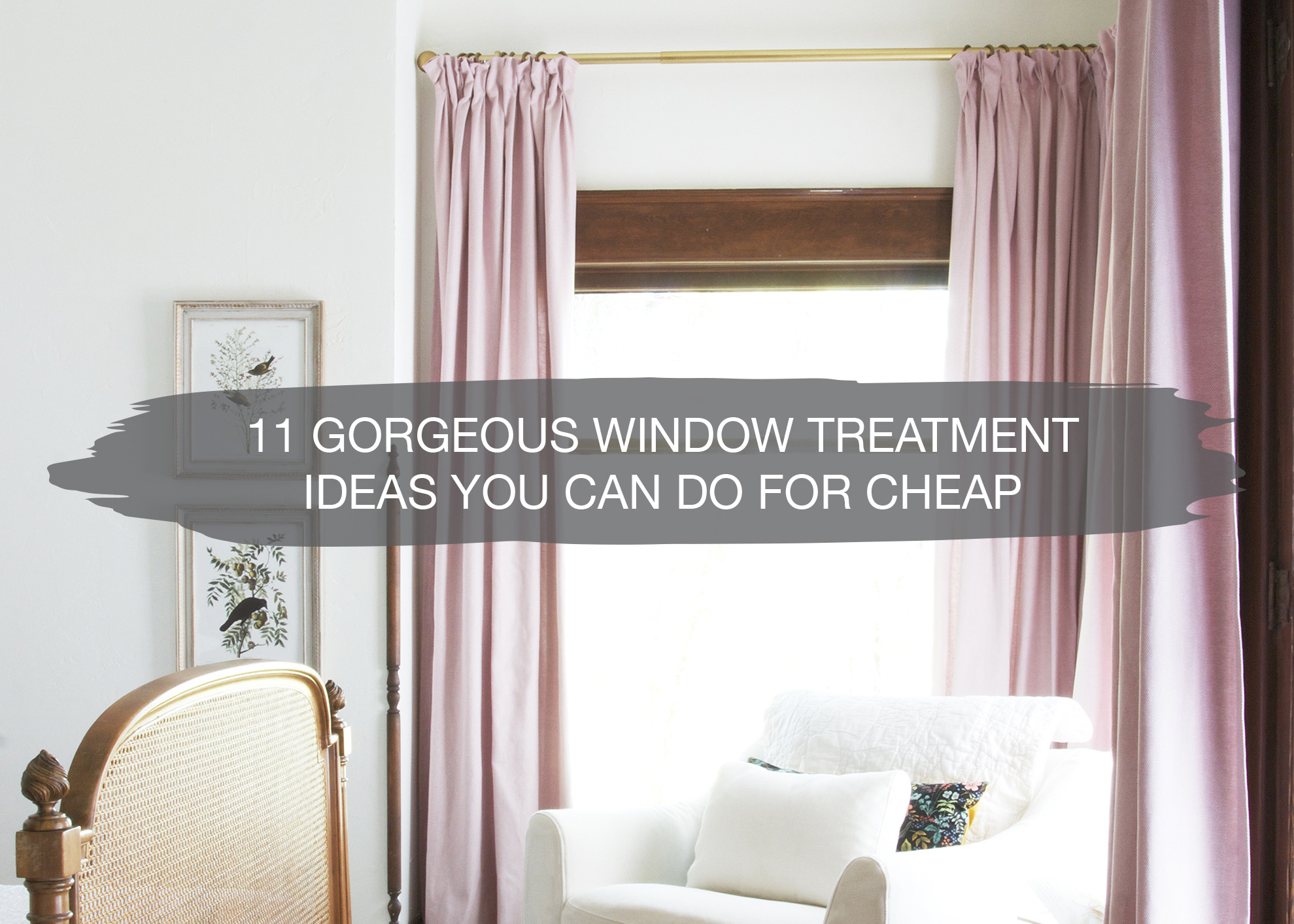 11 diy window treatment ideas cheap