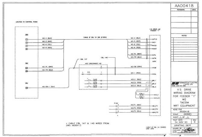 """vs drive wiring diagram for feeder """"1"""" m2"""