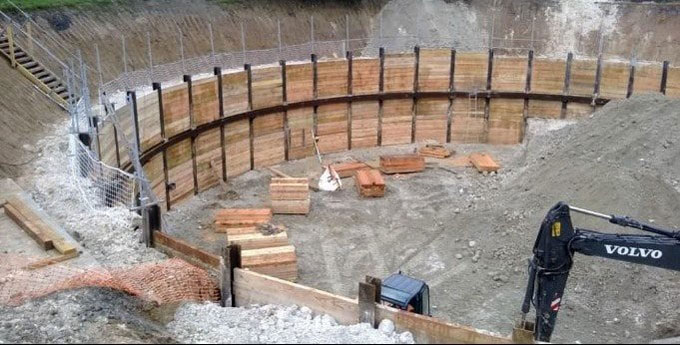 The uses of excavation supports or earth retaining structures