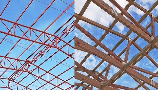 why steel roof truss is better than timber truss - Metal Roof Trusses