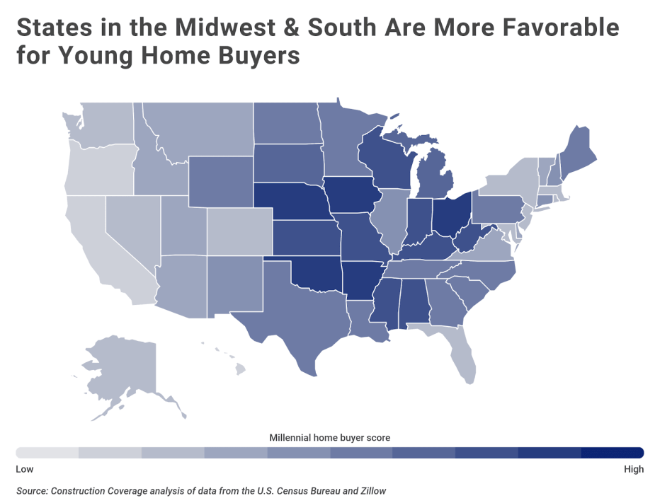 Chart2 Best and worst states for millennial home buyers