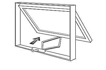 Illustration of Awning Window