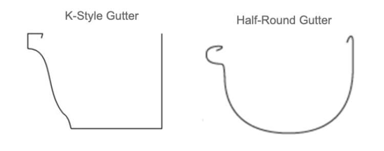 K-Style vs Half-Round Gutter Guard