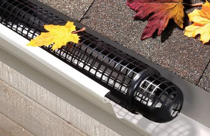 Plastic-Screen Cylindrical Rest-In Gutter Guard