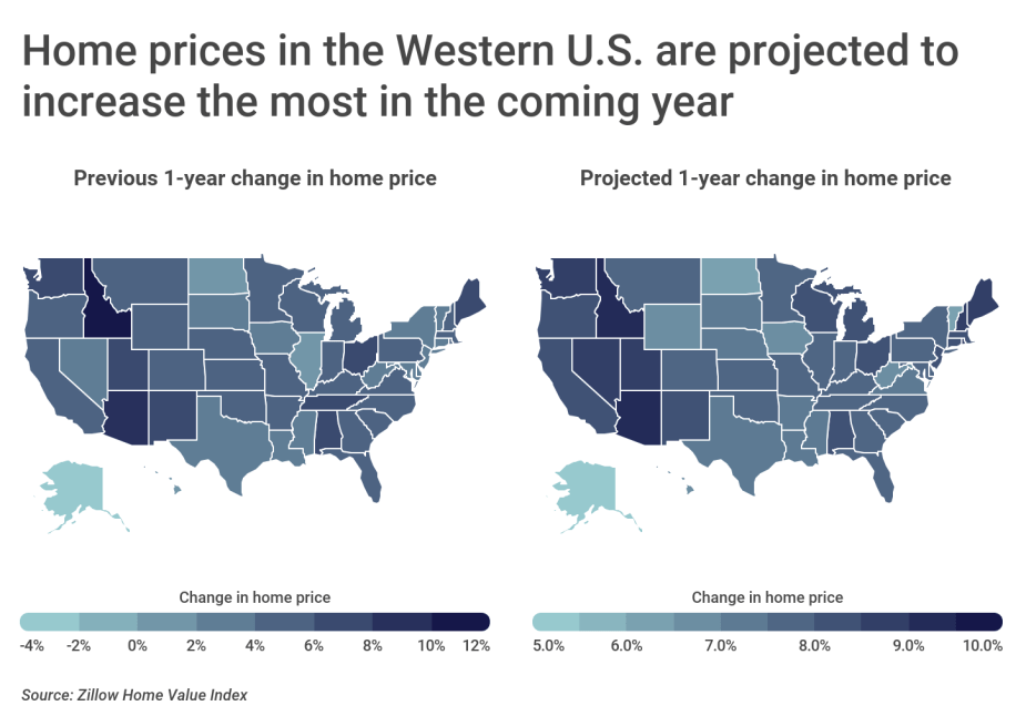 Chart2 Home prices in the Western US are projected to increase most in 2021