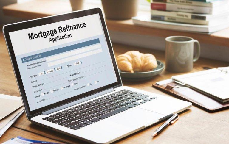 Mortgage refinance application