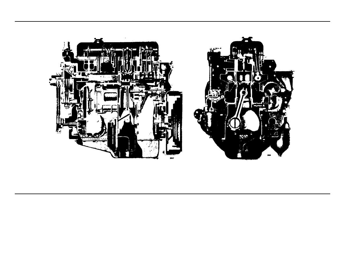 Cross Section Views Of A Typical In Line Engine