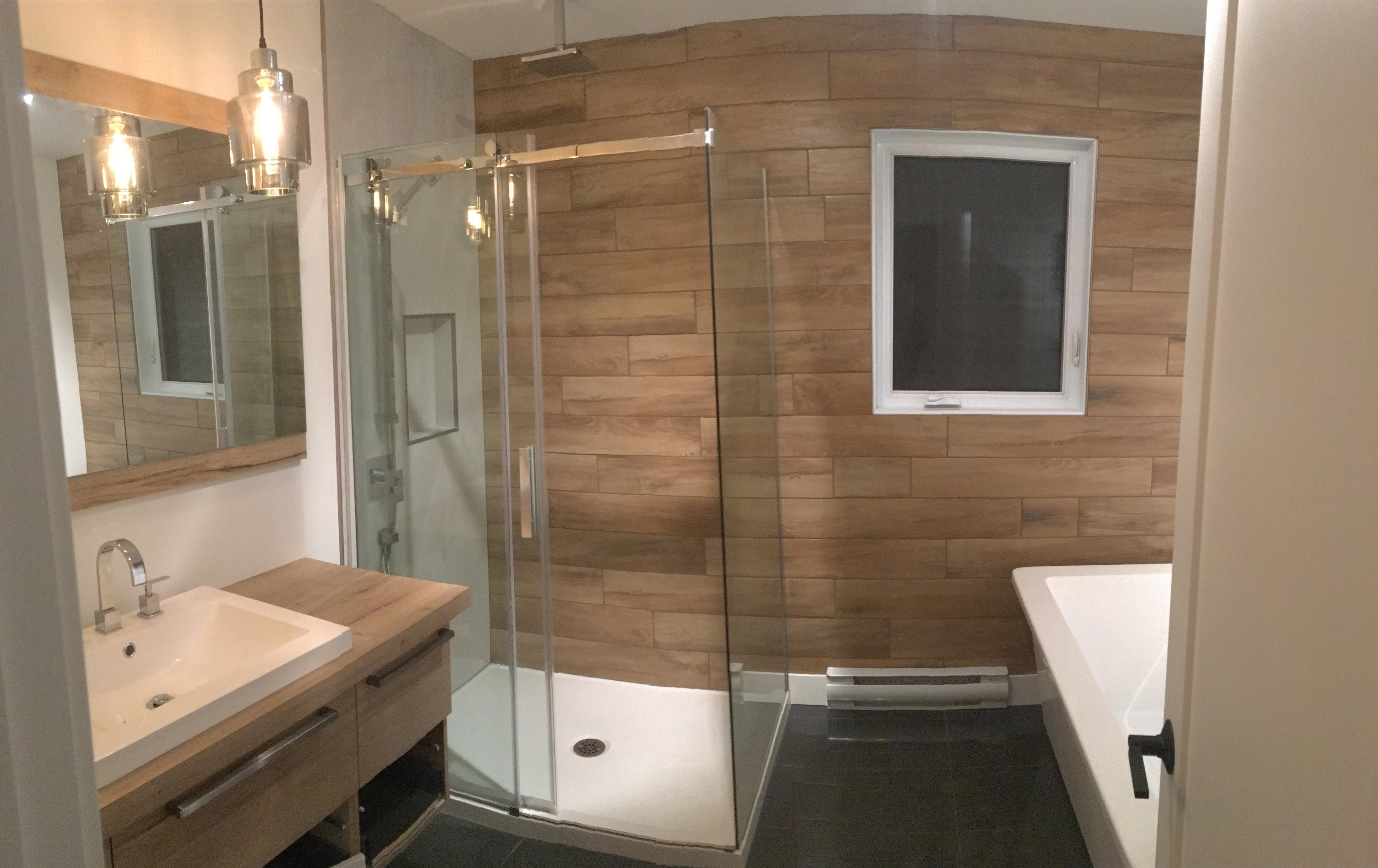 Osb Dans Salle De Bain idee deco salle de bain bois et blanc - novocom.top