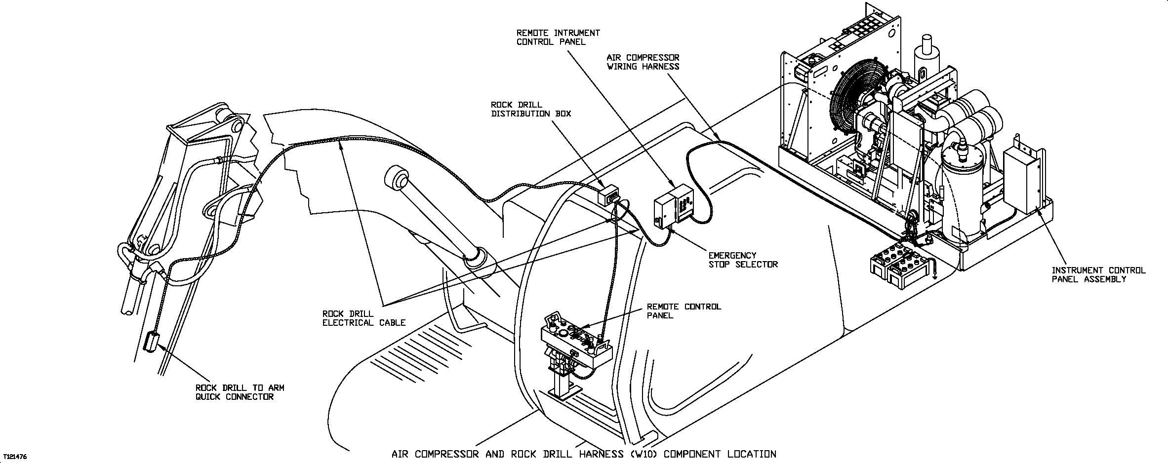 Air Compressor And Rock Drill Harness W10 Component Location