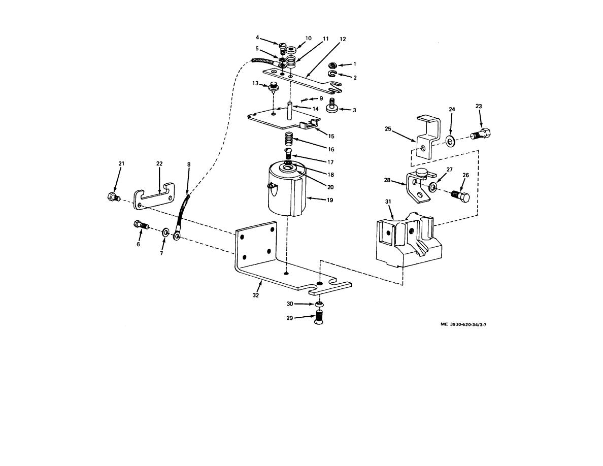 Figure 3 7 Power Steering Contactor Exploded View