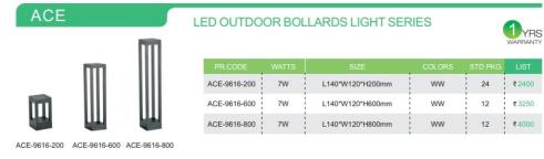 LED OUTDOOR BOLLARDS LIGHT SERIES
