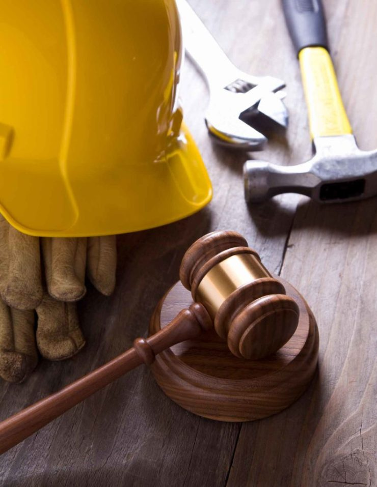 Building Helmet, Hammer, and Gavel | Construction Lawyer Brisbane