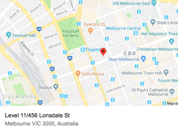 Map of Construction Lawyer Melbourne Office | Construction Lawyer Melbourne