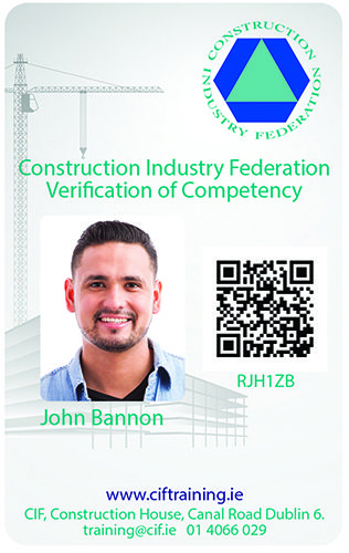 Verification of Competency Card