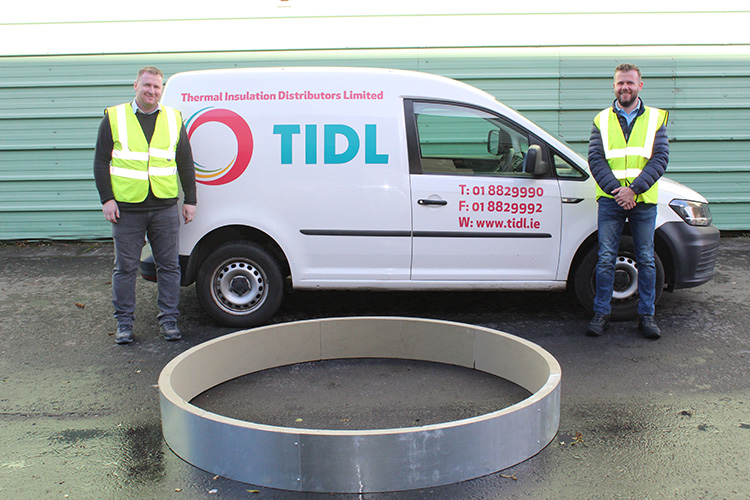 TIDL manufactures one of the largest ever phenolic pipe supports for Irish project