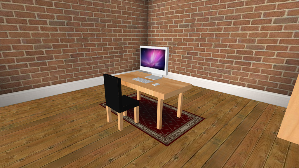 A 3D room created with HTML, CSS and JS. CSS 3D at it's best.