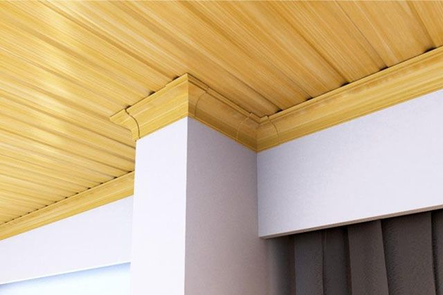 Forro de PVC que simula madeira clara