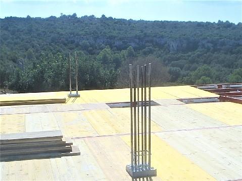 Esperas de un pilar inferior para continuar con la formación de un pilar superior