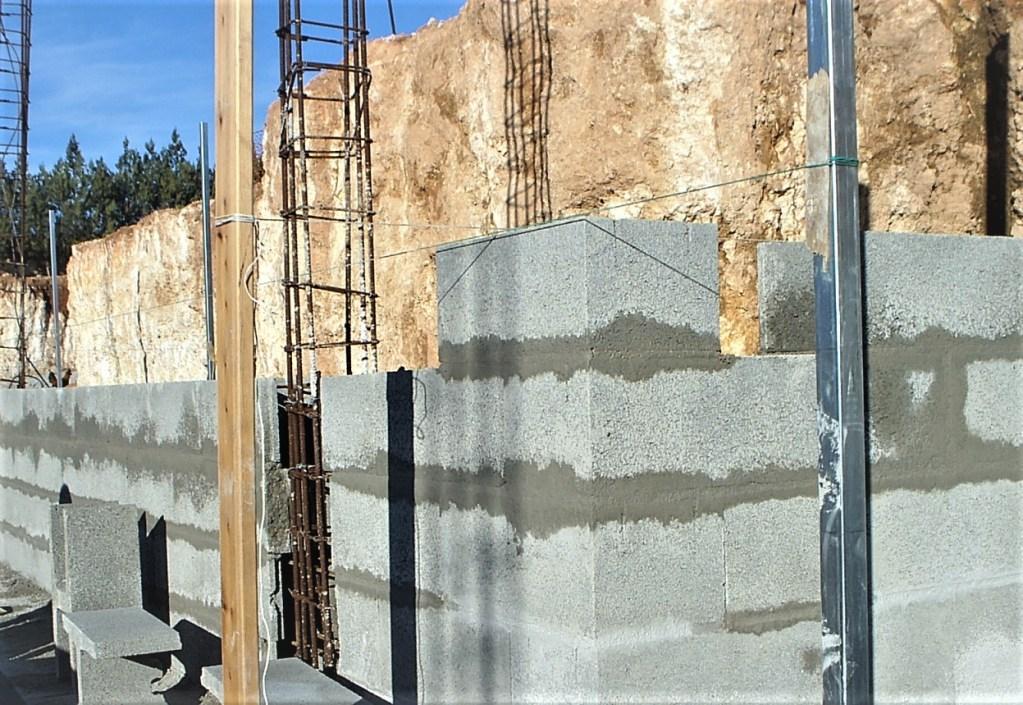 Muro de carga realizado con bloque h-25
