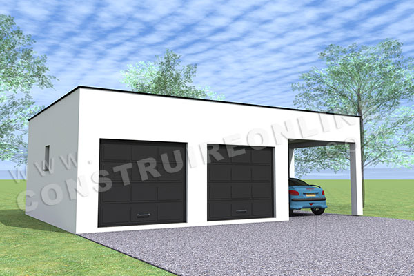 House Plan Contemporary Garage Double Carport 2