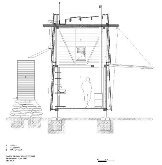 Plano de corte de pequeña casa de campo de 3 x 3
