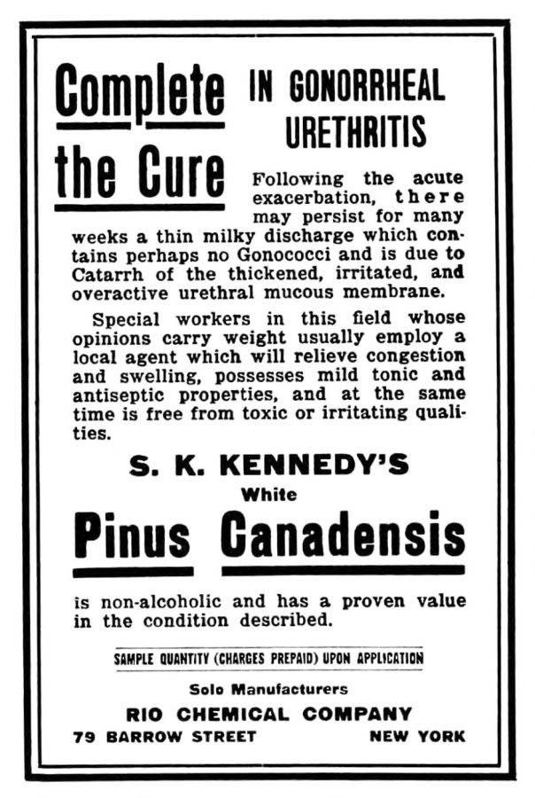 La estenosis de uretra tras uretritis gonocócica era muy frecuente en 1918