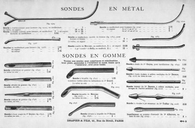 Sondas uretrales (Drapier, 1912)