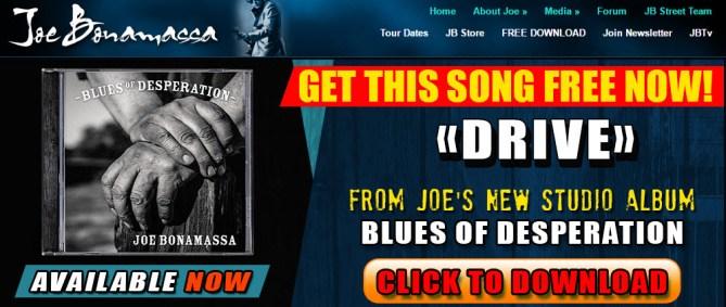 New Client : Joe Bonamassa – www.jbonamassa.com