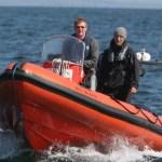 IWDG RIB on a basking shark survey