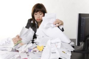 overloaded with paperwork