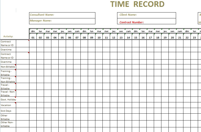Timesheet Template For Excel timesheet templates excel for – Excel Timesheet Template