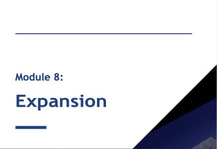 Module 8: Expansion Cases