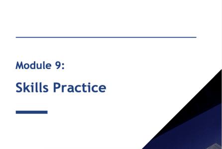 Module 9: Skills Practice