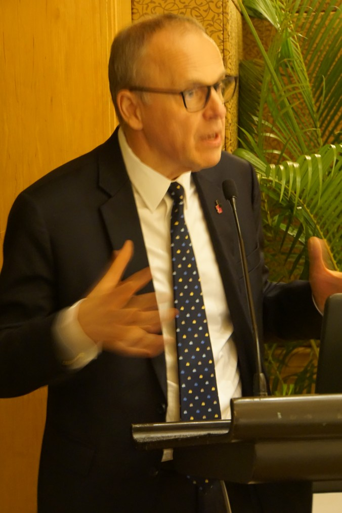 Swedish ambassador Mr. Staffan Herrström AGM Annual General Meeting TSCC Thai-Swedish Chamber of Commerce 2017 2560