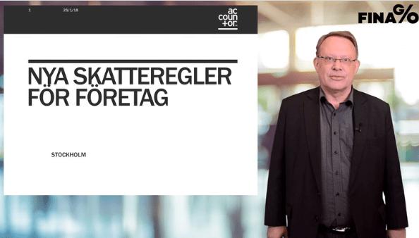 Peter Berg går igenom nya skatteregler för företagssektorn i webbinarier för Accountor Training Sweden