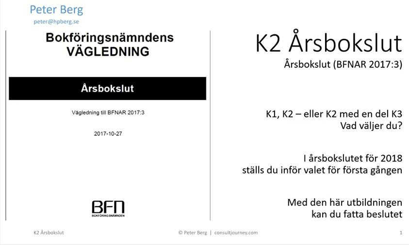 "YouTube Presentation ""K2 Standard for Annual Accounts"" 