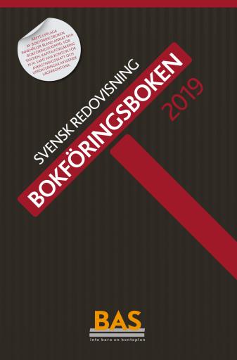BAS-kontoplanen 2019 Bokföringsboken
