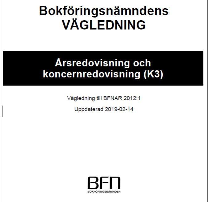 Updated K3 standard   Uppdaterad K3 Årsredovisning och koncernredovisning