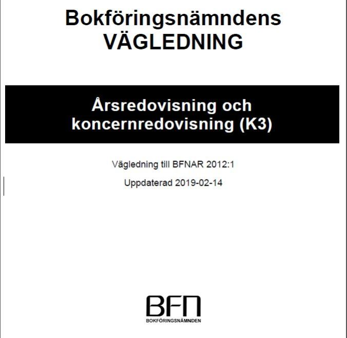 Updated K3 standard | Uppdaterad K3 Årsredovisning och koncernredovisning