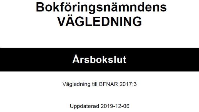K2/K3 Årsbokslut - Ändrad vägledning från BFN