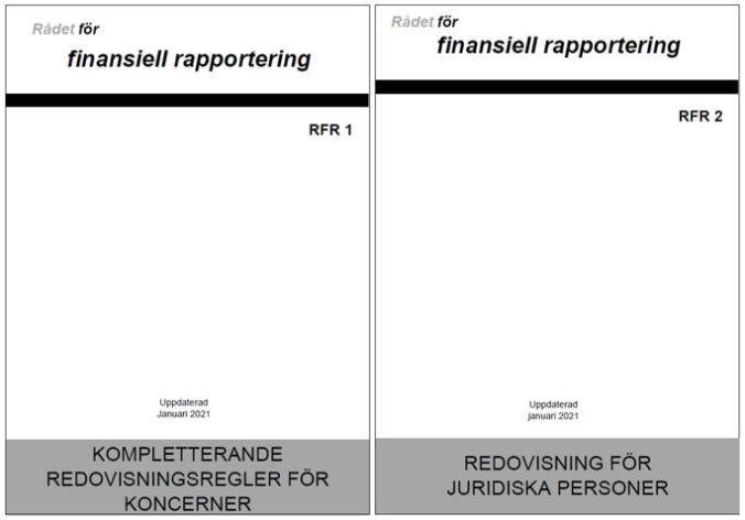 Förstasidor RFR 1 och RFR 2 2021